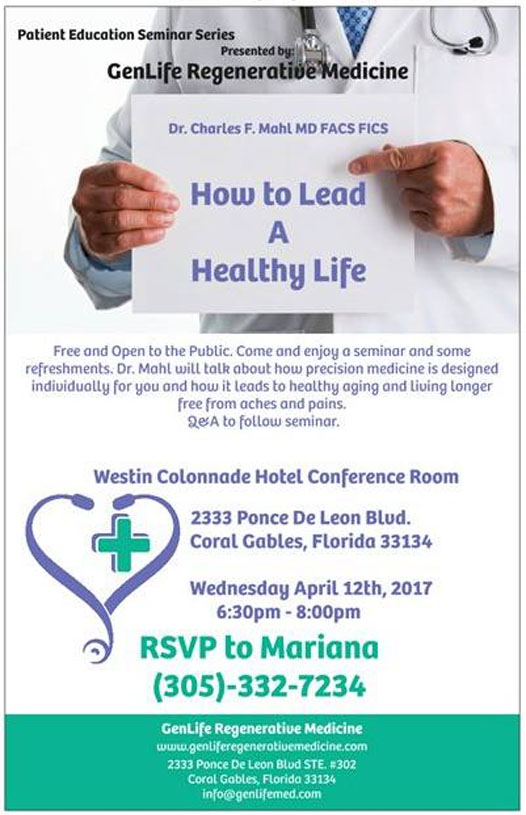 Patient Education Seminar Series: How to Lead a Healthy Life
